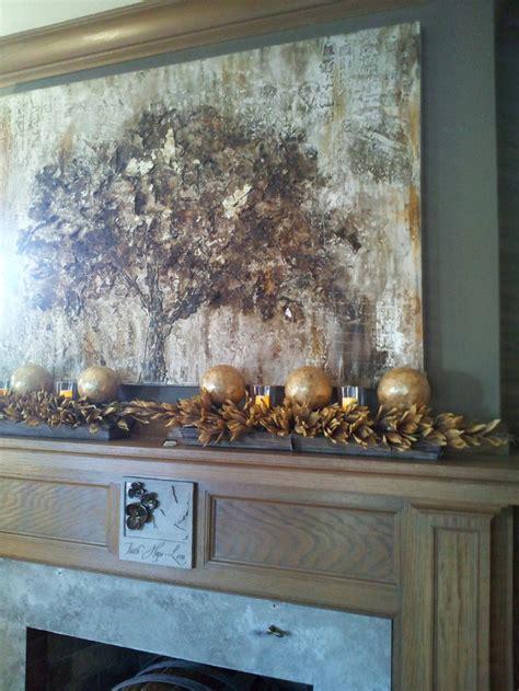 mantel display ablaze with the season pinterest