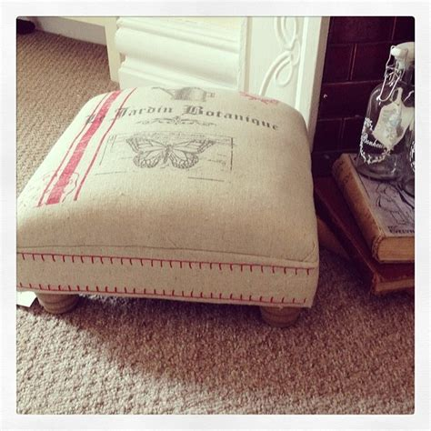 shabby chic footstool vintage country chic footstool
