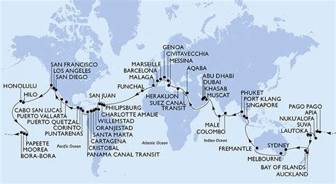 msc cruise around the world maritime timetable images autos post