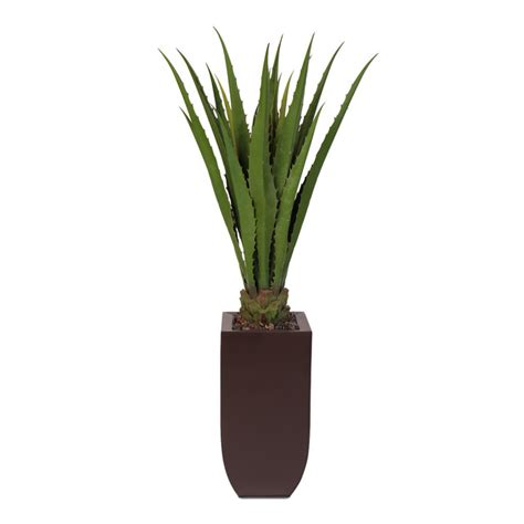 Artificial Trees Home Decor by Artificial Cactus Plant In A Tall Metal Container