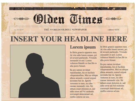 Editable Powerpoint Newspapers News Template