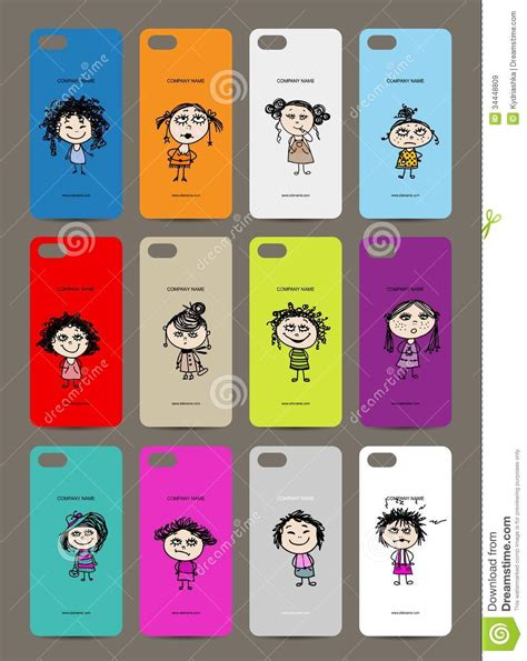 design cover mobile mobile phone cover back 12 funny girls for your royalty