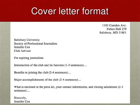 media kit cover letter lecture 10 press kits