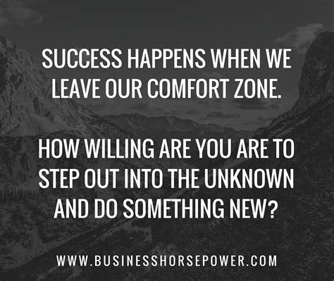 outside of your comfort zone are you willing to step outside your comfort zone