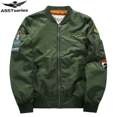 Jaket Bomber Army Size L 1 aliexpress buy jacket s ma 1 style