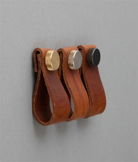 Kitchen Handles With Leather Magni Volcanic Cinder Leather Kitchen Door Handles