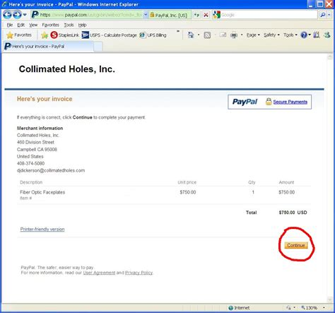 Paypal Payment Invoice Invoice Template Ideas Paypal Payment Template