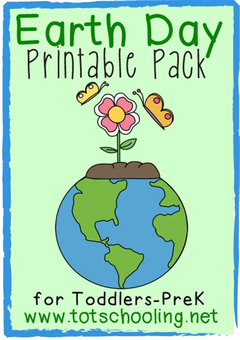 free earth day pack for toddlers prek totschooling