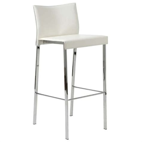 White Leather And Chrome Bar Stools by 30 Quot Bar Stool In White Leather And Chrome 17223wht