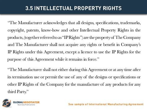 manufacturing agreement template free international manufacturing agreement template