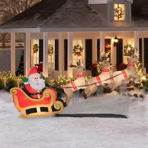 6 floating santa sleigh with reindeers airblown