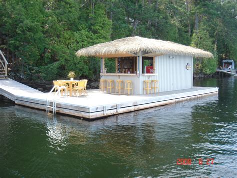 Floating Tiki Hut Steel Floating Commercial Dock Systems R J Machine