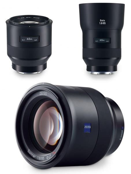 Lensa Sony 85mm zeiss batis seri lensa baru untuk kamera mirrorless sony a7