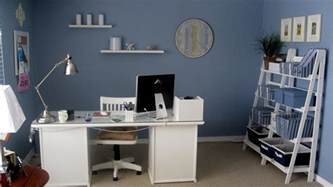 Modern Bookshelf office adjustable home office decor ideas with blue