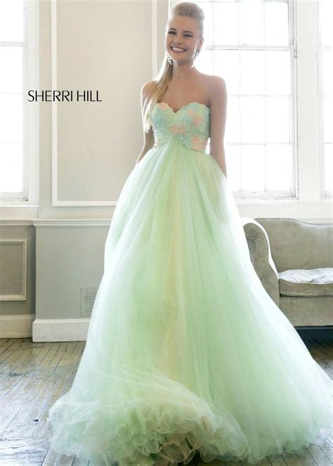 sherri hill strapless tulle and lace body con dress strapless sweetheart ball gown with a beaded lace applique