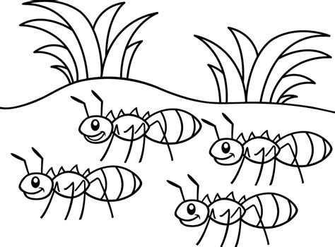 ant coloring pages ants marching coloring pages and print for free