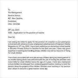 application letter for teachers