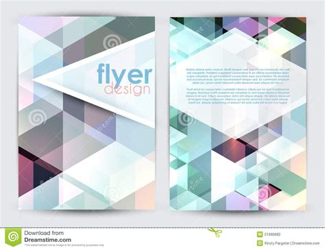 double sided flyer design stock vector image 51690682