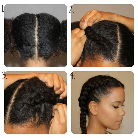black women french roll tutorial diy chunky french braid out naturally curly
