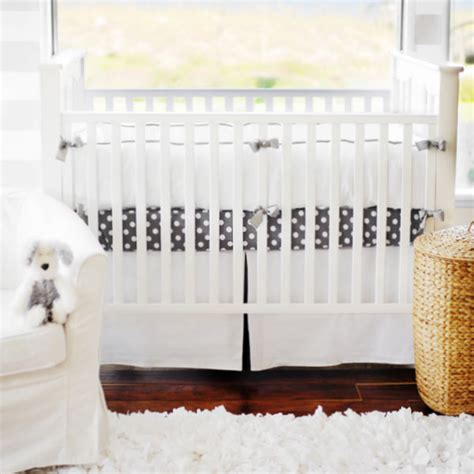White Baby Crib Bedding by Grey Crib Bedding Gray Crib Bedding Gray Baby Bedding