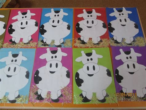 Paper Craft For Kindergarten - cow craft for crafts and worksheets for preschool