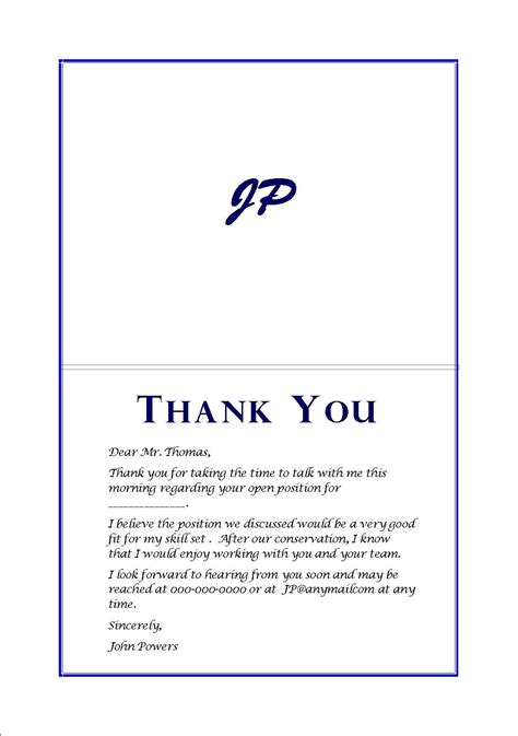 examples of thank you letters after interview letter format resume