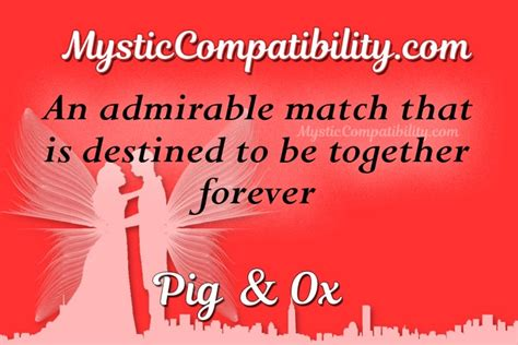 pig ox compatibility mystic compatibility