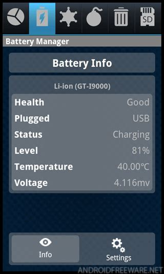 battery doctor for android tablets android battery doctor free app android freeware