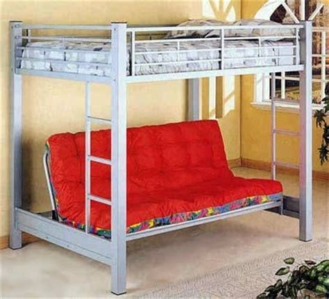 full loft bed with futon underneath full size loft bed w full futon under small bedroom