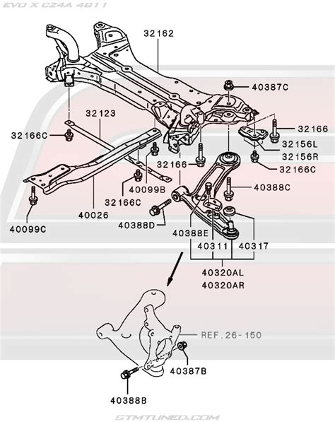 Bushing Engine Monting Depan Belakang Mitsubishi Lancer Galant Eterna mu000765 oem mitsubishi evo x front suspension center member bolt 2008 2015 evolution x cz4a