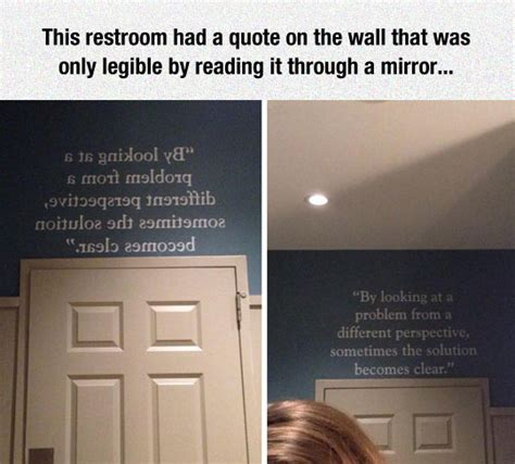 bathroom mirror quotes sometimes it s all about perspective the meta picture