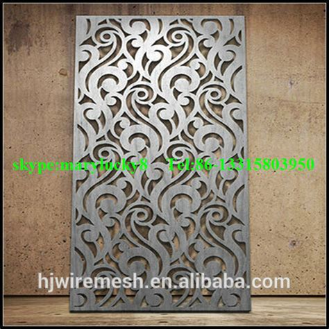 Window Art Curtain Panels Architectural Metal Screen Laser Cut Privacy Screens