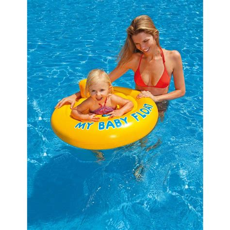 Intex Pelung Baby And My Swim Float Intex 56590 intex deluxe baby float swim seat safety swimming ring 6 12 months ebay