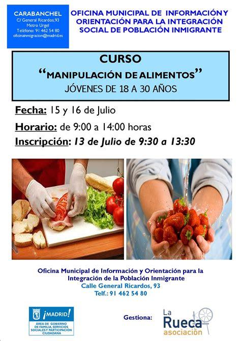 cursos manipulacion de alimentos nuevos cursos de manipulaci 243 n de alimentos oficina