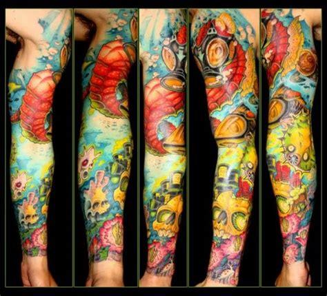 front arm tattoo colorful calf picture marathon
