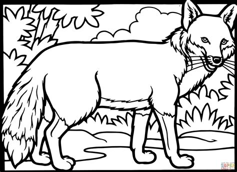 Fox Coloring Pages by Fox Coloring Page Free Printable Coloring Pages