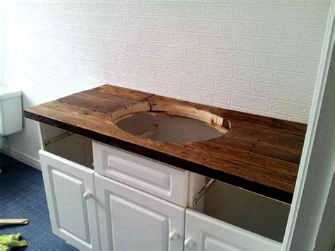 Wood Top Bathroom Vanity 25 Best Ideas About Wood Vanity On Pinterest Reclaimed Wood Vanity Black White Bathrooms And