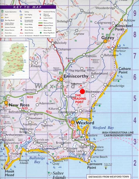 map of wexford wexford map and wexford satellite image