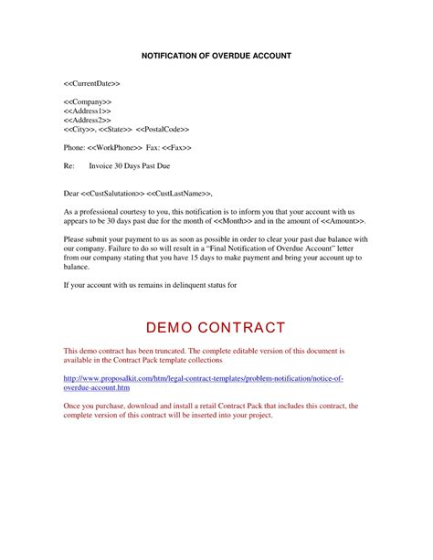 Overdue Invoice Warning Letter Debt Collection Letters For Unpaid Invoices Invoice