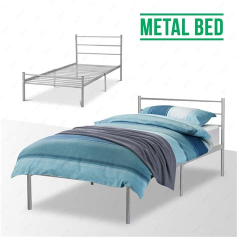 sturdy bed frame 3ft 4ft6 bedstead silver double metal bed frame sturdy for