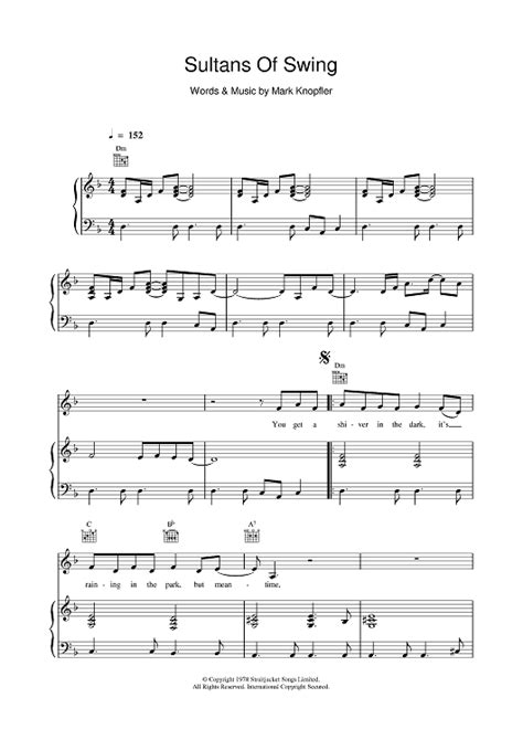 swing noten sultans of swing sheet for piano and more