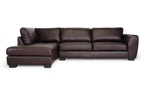 new brown leather modern sectional left or right