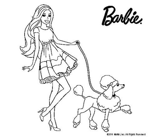dibujos para colorear de barbie sirena y su delf n dibujo de barbie paseando a su mascota para colorear
