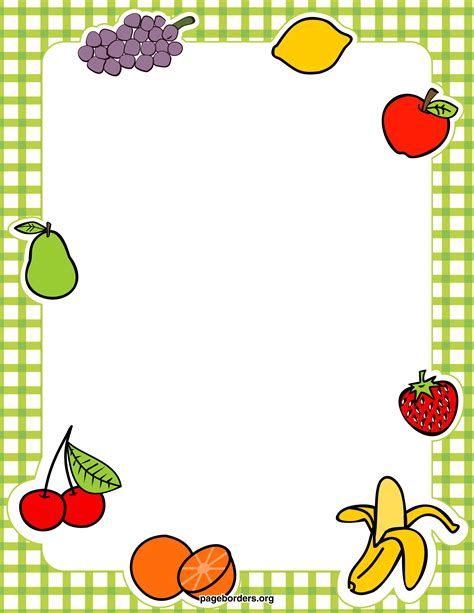 Fruit Borders Printables