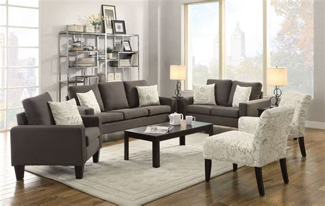 gray living room chairs grey linen sofa set cheap sofa set discounted sofa set