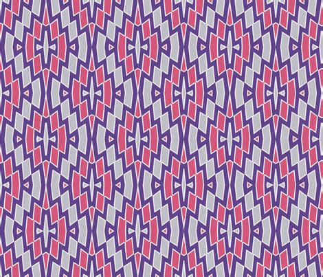 tribal pattern pink and gray tribal diamond pattern in violet pink and gray fabric