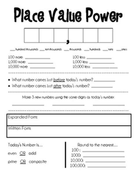 Place Value Relationships Worksheets by Place Value Power Posters And Center Activities Places