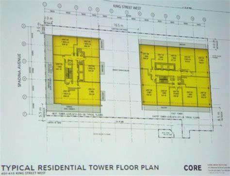 white tower floor plan developers revise plans for 401 415 king street west