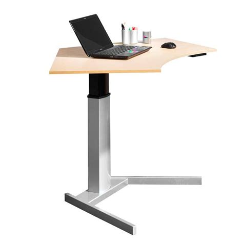 Height Adjustable Computer Desk Floor Standing Aj Adjustable Height Computer Desk Workstation