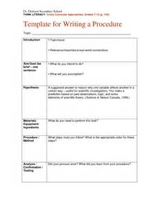 procedure writing templates best photos of science procedure template science fair